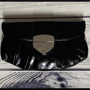 Express Black Patent Leather Clutch - New